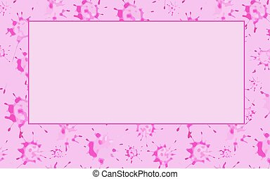Pink blots. Abstract background