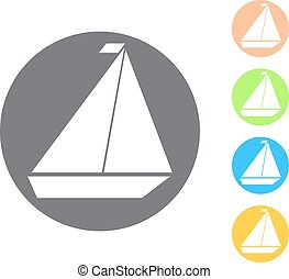 Vector icon of yacht