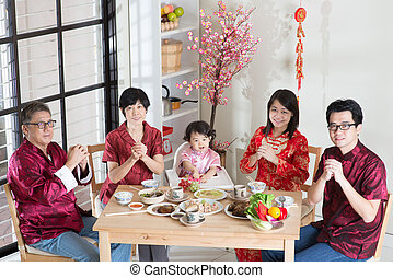 Chinese New Year Family Reunion Dinner