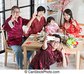 Chinese family selfie