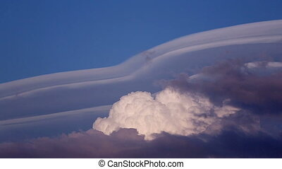 Unusual clouds - Unusual clouds in the blue sky background