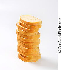 Sliced white bread - Sliced loaf of white bread