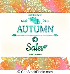 Autumn sale. EPS 10