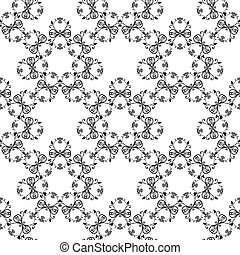 floral curves seamless pattern
