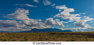 Henry Mountains Utah Landscape Horizontal Composition