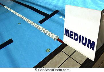 Medium lane sign in swimming pool concepts and ideas