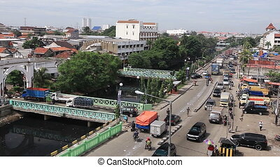 View from Watchtower of Sunda Kelapa - the old port of...