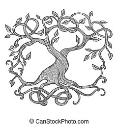 Celtic Tree of Life - Celtic tree of life, illustration of...