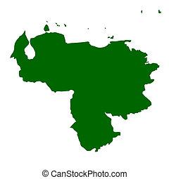 Venezuela - Map of Venezuela, isolated on white background.
