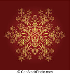 Detailed golden snowflake