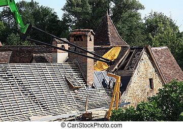 Roof renovations - Renovating an old 18thC tiled roof on a...