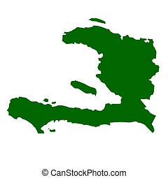 Haiti - Map of Haiti, isolated on white background.