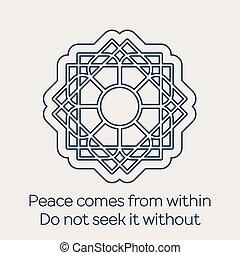 Vector religious circular ornament - Asian religious...
