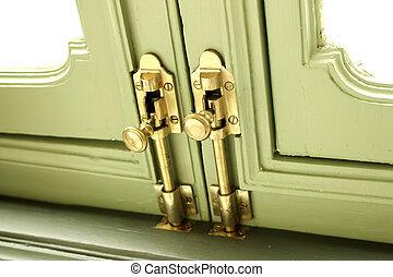 Brass Hasp Door Vintage Old Retro