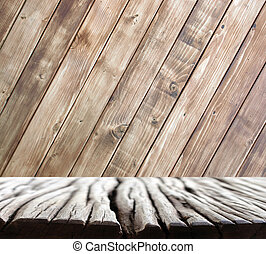 wood wall and floor