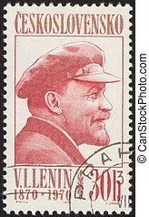retro postage stamp twenty six - Vladimir Ilyich Lenin was a...