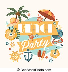 Beautiful Beach Party Design - Beautiful beach party design...