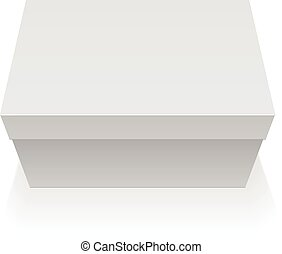 Package Box. For electronic device. - Realistic White...