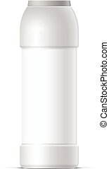 White plastic bottle For cleaning - Cool Realistic White...
