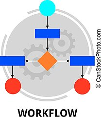 vector - workflow - An illustration showing a workflow...