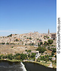 Toledo and Tagus river, Spain - Toledo and Tagus river Spain...