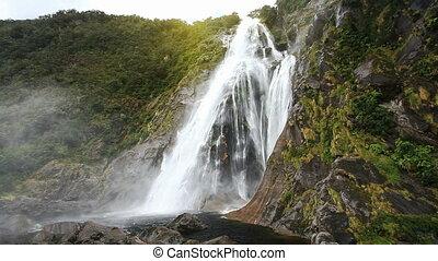 View on Lady Bowen Falls