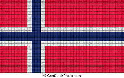 Flags Norway with abstract textures Rasterized - Flags of...