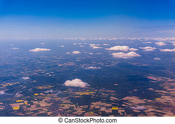 Aerial view from plane. Germany