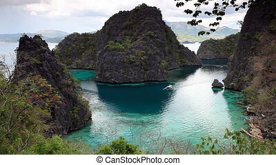 Coron lagoon landscape - Tropical lagoon on the way to...