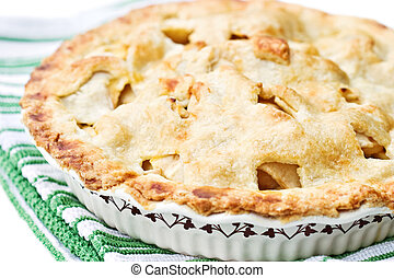 Apple Pie - Fresh apple pie with a golden buttery crust