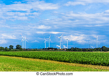Wind turbines. windmills for electric power production