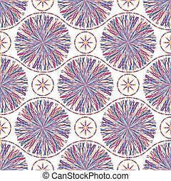 Abstract seamless pattern with striped circles