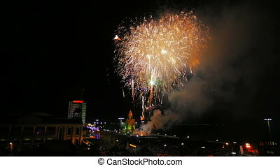 Fireworks in the city - Fireworks in the sky celebrating...