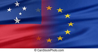 europeo, unione, e, Samoa., ,