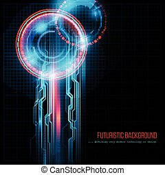 Abstract HUD futuristic background. Vector illustration EPS...