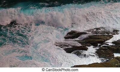 Ocean tide on the rocks