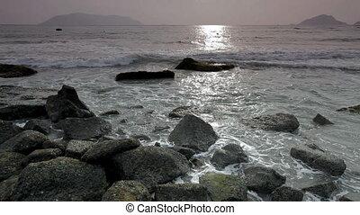 Ocean tide at dawn