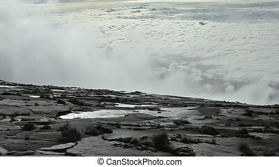 panorama from Mt Kinabalu - panorama view from slope of Mt...
