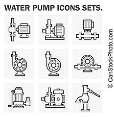 Icons - Water pump icons sets.