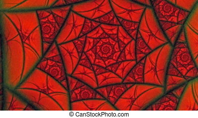 Lovers Red Spider Web Flower
