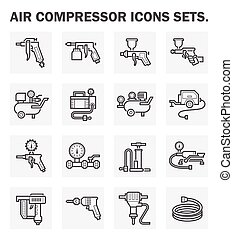 Icons - Air compressor icons sets.