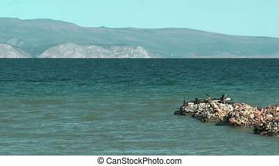 Baikal lake - Olkhon island on Baikal lake Peschannaya bay