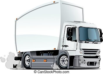 Cartoon delivery or cargo truck - Cartoon truck. Available...