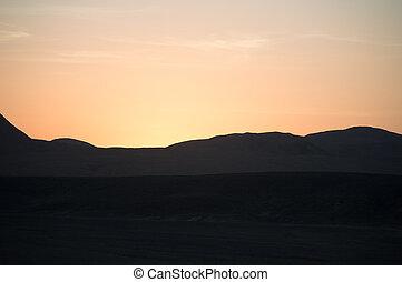 sunset in the desert of Sinai
