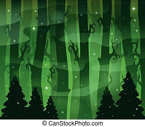 Mysterious forest theme image 8 - eps10 vector illustration