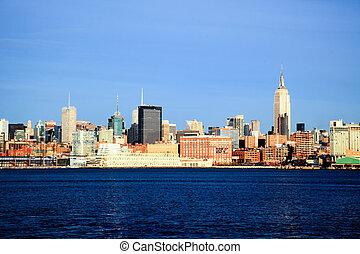 The New York City midtown skyline