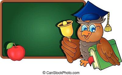 Owl teacher theme image 8 - eps10 vector illustration.