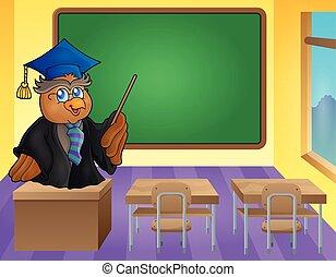Owl teacher theme image 9 - eps10 vector illustration.