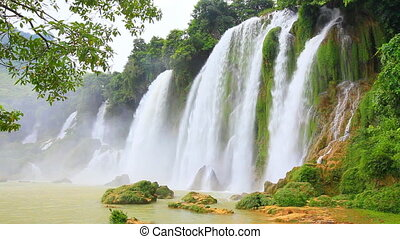 Ban Gioc waterfall - Banyue or Ban Gioc or Detian waterfall...