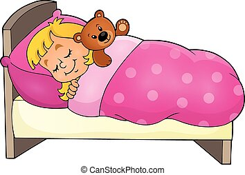 Sleeping child theme image 1 - eps10 vector illustration.